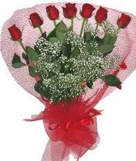 7 adet kipkirmizi gülden görsel buket  Afyon çiçek mağazası , çiçekçi adresleri