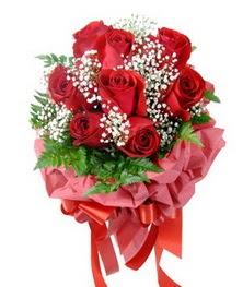 9 adet en kaliteli gülden kirmizi buket  Afyon çiçek servisi , çiçekçi adresleri