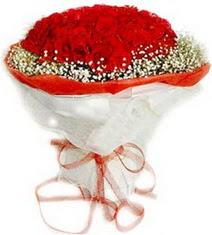 Afyon çiçekçiler  41 adet kirmizi gül buketi