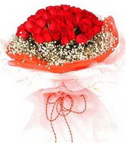 Afyon hediye sevgilime hediye çiçek  21 adet askin kirmizi gül buketi