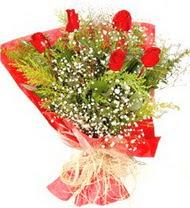 Afyon anneler günü çiçek yolla  5 adet kirmizi gül buketi demeti