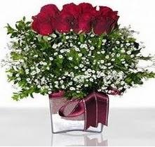 Afyon internetten çiçek satışı  mika yada cam vazo içerisinde 7 adet gül