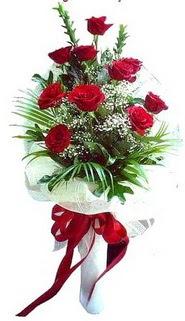 Afyon ucuz çiçek gönder  10 adet kirmizi gül buketi demeti