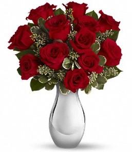 Afyon çiçek siparişi vermek   vazo içerisinde 11 adet kırmızı gül tanzimi