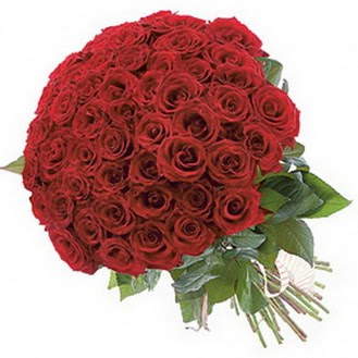 Afyon güvenli kaliteli hızlı çiçek  101 adet kırmızı gül buketi modeli