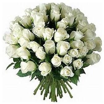 Afyon çiçek servisi , çiçekçi adresleri  33 adet beyaz gül buketi
