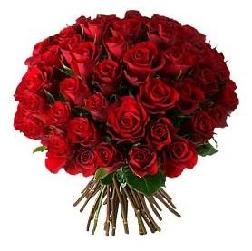 Afyon çiçek , çiçekçi , çiçekçilik  33 adet kırmızı gül buketi