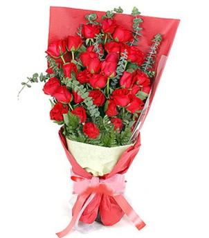 Afyon çiçek gönderme  37 adet kırmızı güllerden buket