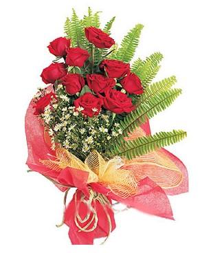 Afyon İnternetten çiçek siparişi  11 adet kırmızı güllerden buket modeli