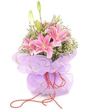3 dal kazablanka görsel buketi  Afyon internetten çiçek satışı