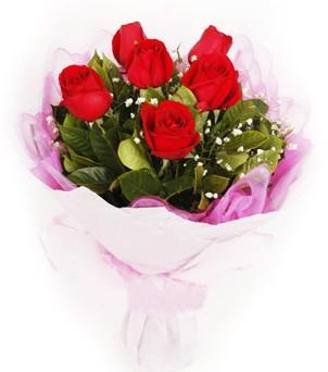 Afyon hediye sevgilime hediye çiçek  kırmızı 6 adet gülden buket