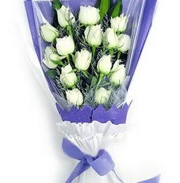 Afyon çiçekçi mağazası  11 adet beyaz gül buket modeli