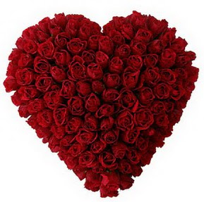 Afyon çiçekçi mağazası  muhteşem kırmızı güllerden kalp çiçeği