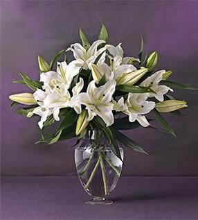 Afyon İnternetten çiçek siparişi  4 dal cazablanca vazo çiçeği