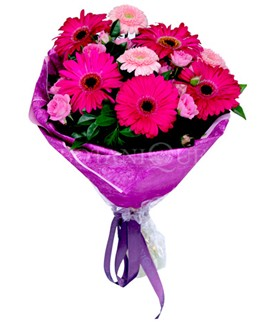 Afyon çiçek siparişi sitesi  karışık gerbera çiçeği buketi