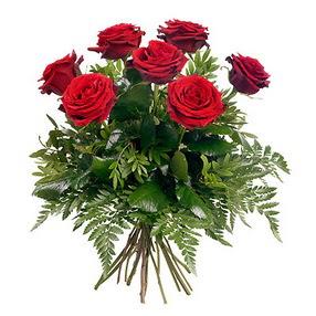 Afyon online çiçek gönderme sipariş  7 adet kırmızı gülden buket