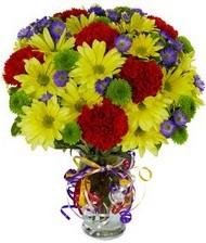 En güzel hediye karışık mevsim çiçeği  Afyon hediye çiçek yolla