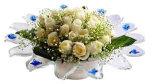 Afyon çiçek online çiçek siparişi  11 adet Beyaz güller özel cam tanzim