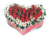 Afyon çiçekçi telefonları  mika kalpte kirmizi güller 9