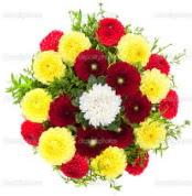Afyon çiçekçi mağazası  13 adet mevsim çiçeğinden görsel buket
