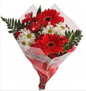 Mevsim çiçeklerinden görsel buket  Afyon çiçekçiler