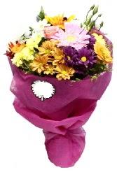 1 demet karışık görsel buket  Afyon anneler günü çiçek yolla