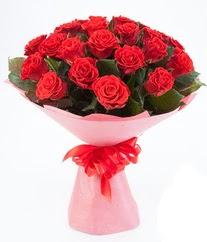 15 adet kırmızı gülden buket tanzimi  Afyon çiçek siparişi sitesi