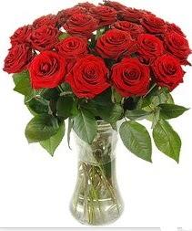 Afyon çiçek mağazası , çiçekçi adresleri  Vazoda 15 adet kırmızı gül tanzimi