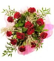 12 adet kırmızı gül buketi  Afyon 14 şubat sevgililer günü çiçek