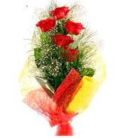 5 li kırmızı gül buketi  Afyon internetten çiçek satışı