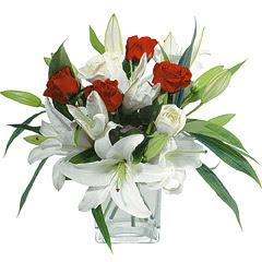 vazo içerisinde 4 gül 1 adet kazablanka  Afyon online çiçek gönderme sipariş