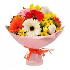 Karışık mevsim buketi Mevsimsel çiçek  Afyon internetten çiçek siparişi