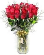 27 adet vazo içerisinde kırmızı gül  Afyon İnternetten çiçek siparişi