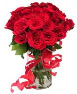 21 adet vazo içerisinde kırmızı gül  Afyon çiçek satışı