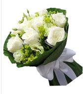 9 adet beyaz gül buketi  Afyon çiçek siparişi sitesi