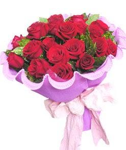 12 adet kırmızı gülden görsel buket  Afyon çiçekçi mağazası