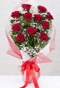 11 kırmızı gülden buket çiçeği  Afyon 14 şubat sevgililer günü çiçek