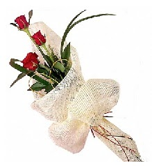 3 adet kırmızı gül buketi  Afyon güvenli kaliteli hızlı çiçek