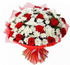 11 adet kırmızı gül ve 1 demet krizantem  Afyon çiçek mağazası , çiçekçi adresleri