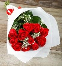 9 kırmızı gülden buket çiçeği  Afyon çiçek gönderme