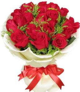 19 adet kırmızı gülden buket tanzimi  Afyon çiçek servisi , çiçekçi adresleri
