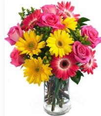Vazoda Karışık mevsim çiçeği  Afyon çiçekçi mağazası