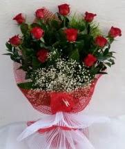 11 adet kırmızı gülden görsel çiçek  Afyon çiçek satışı