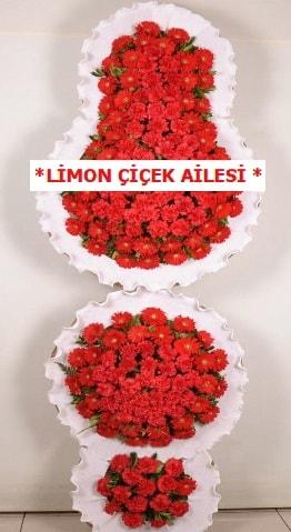 3 katlı kırmızı düğün açılış çiçeği  Afyon çiçek gönderme