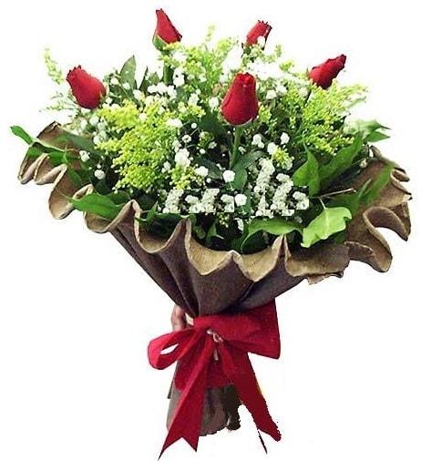 5 adet gülden buket  Afyon çiçek gönderme sitemiz güvenlidir