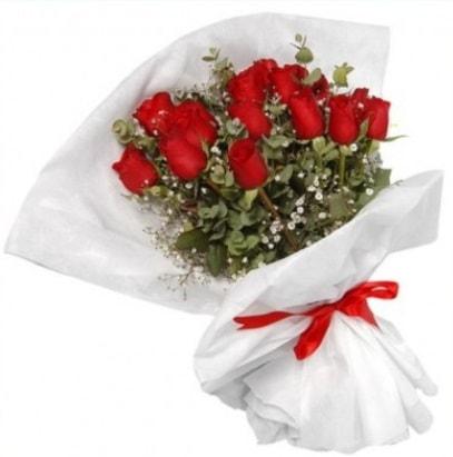 9 adet kırmızı gül buketi  Afyon çiçekçi mağazası