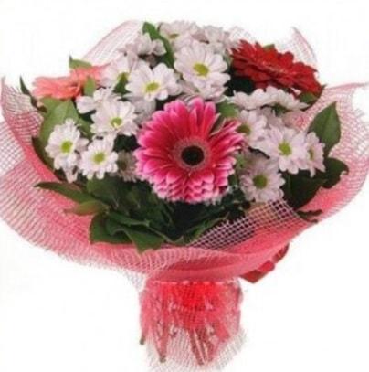 Gerbera ve kır çiçekleri buketi  Afyon internetten çiçek siparişi