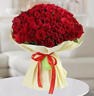 101 adet kırmızı gül buketi koca demet  Afyon internetten çiçek siparişi