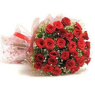 27 Adet kırmızı gül buketi  Afyon ucuz çiçek gönder