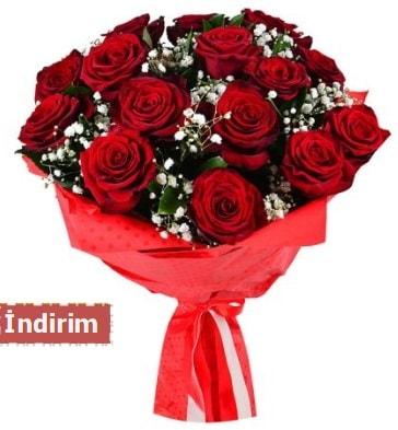 12 Adet kırmızı aşk gülleri  Afyon çiçek satışı
